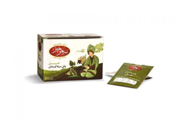 مشخصات و قیمت چای سیاه کیسه ای هل سحرخیز-با خواص آنتی اکسیدان-کمک به هضم غذا و ضد نفخ-تقویت معده-بهبود گردش خون و سلامت قلب و عروق از محصولات بهشت سلامت